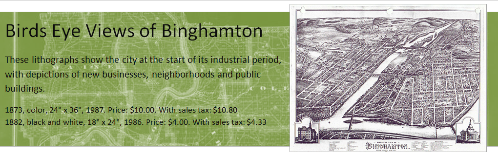 These lithographs show the city at the start of its industrial period, with depictions of new businesses, neighborhoods and public buildings. 