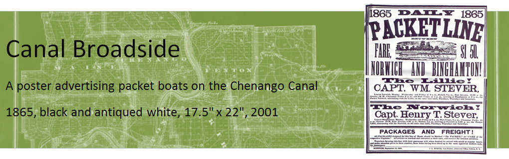 A poster advertising packet boats on the Chenango Canal.