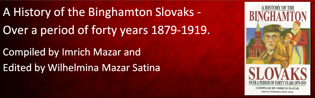 The history of Slovaks in the Greater Binghamton area, from 1879-1919. This book is a translation from the original Slovak.